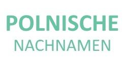Bild der Top 30 polnischen Nachnamen
